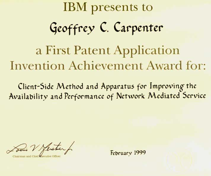 First Patent Application Invention Achievement Award